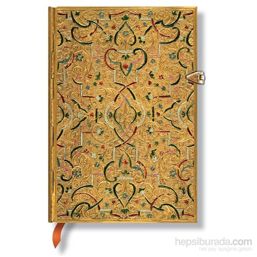 Paperblanks Gold Inlay Midi 120 X 170Mm. 2533-7 Defter