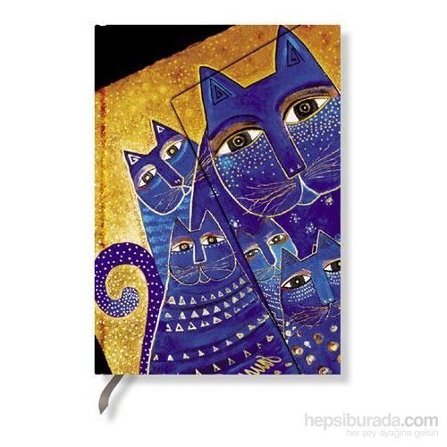 Paperblanks Med. Cats. Midi Çizgili 120 X 170Mm. 396-1 Defter
