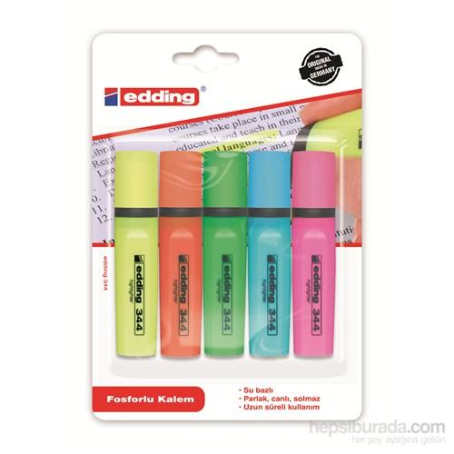 edding Fosforlu Kalem Karışık Renkler 4+1 Hediye