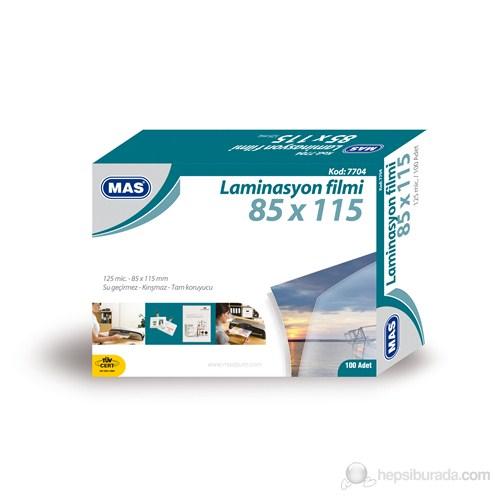 Mas 7704 Laminasyon Filmi- 125 Mic.- 85*115 - 100Lü Pk