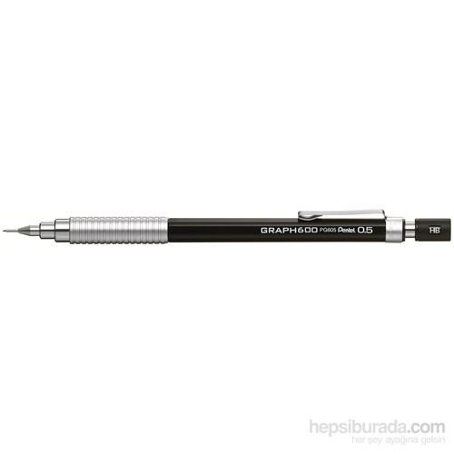 Pentel PG605-A Teknik Çizim ve Yazı İçin 0.5 mm Siyah GraphGear 600 Versatil