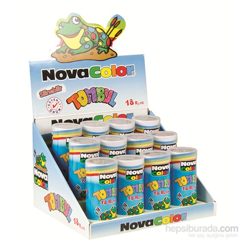 Nova Color Nc-2116 Tombul Mum Pastel Boya Tüp 18 Renk