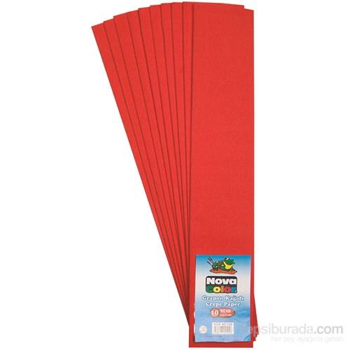 Nova Color Nc-339 Krapon Kağıdı 10 Lu Paket Kırmızı
