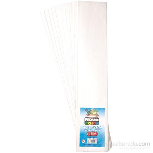 Nova Color Nc-340 Krapon Kağıdı 10'Lu Paket Beyaz