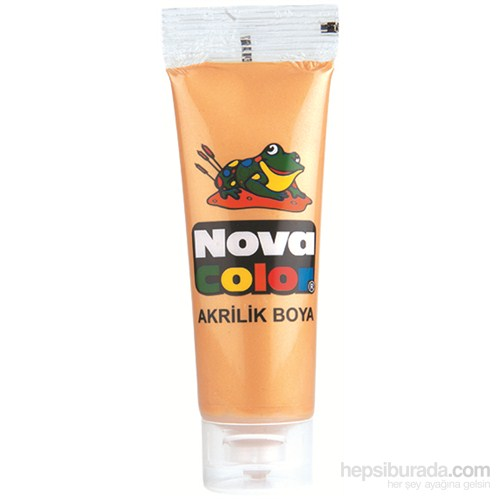 Nova Color Nc-525 Akrilik Boya 75 Gr Plastik Tüp Altın