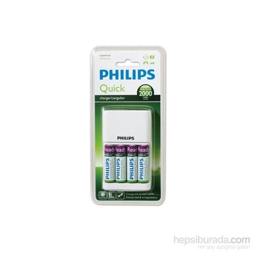 Philips Scb2491wb/12 2000Mah 4`Lü Aa Pil + Şarj