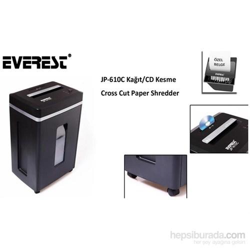 Everest Jp-610C Kağıt Kesme ve Evrak İmha makinesi 26 litre