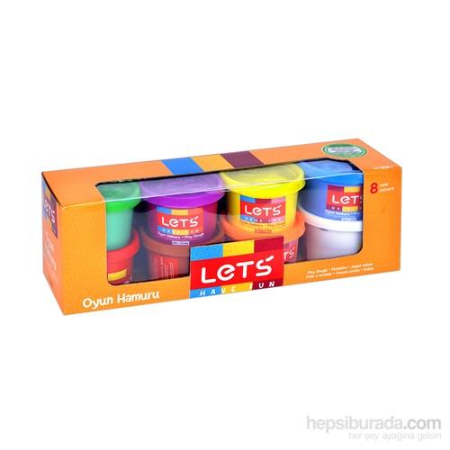 Lets L-8348 8 Renk Oyun Hamuru 800 Gr