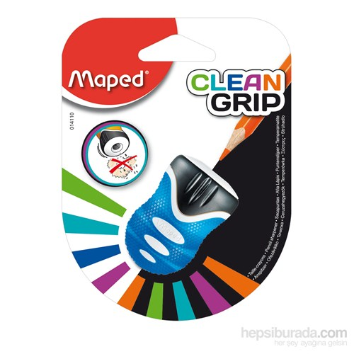 Maped 014110 Clean Grıp Tek Delikli Kalemtraş