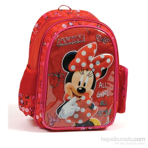 Yaygan Disney Minnie Mouse Okul Çantası (Minnie Kabartmalı)