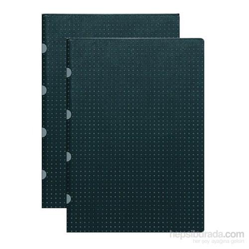Paper-Oh 9178-3 Twin A5 Çizgili Black On Grey Defter