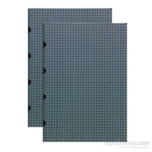 Paper-Oh 9167-7 Twin A4 Çizgisiz Grey On Black Defter