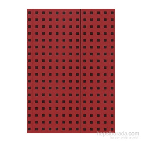 Paper-Oh 9057-1 Quadro B5 Çizgisiz Red On Black Defter