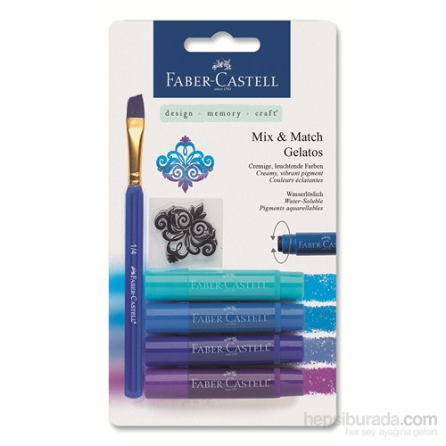 Faber-Castell Gelato Mum Boya Mavi Tonları 4 renk