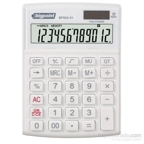 Bigpoint Hesap Makinesi 12 Hane Beyaz