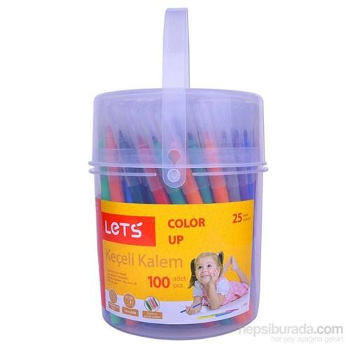 Lets 100'Lü Keçeli Kalem 25 Renk L-7100