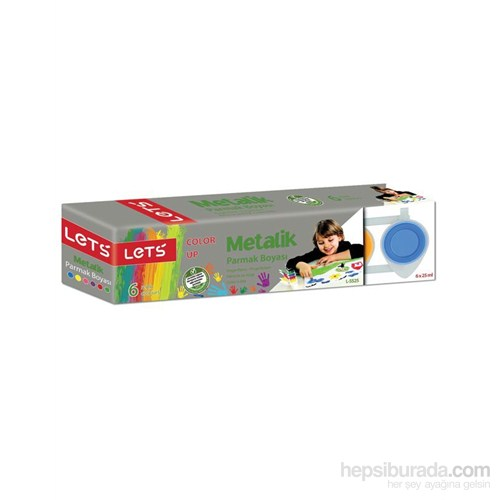 Lets Parmak Boyası Metalik 25Mg. 6 Renk L-5525