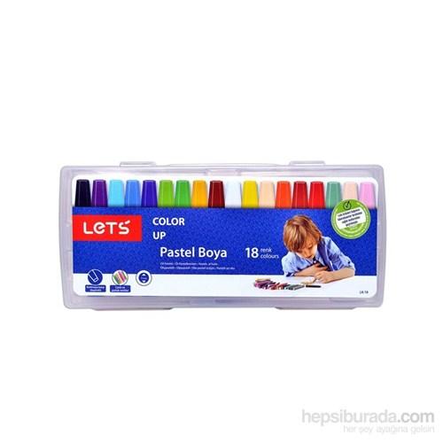 Lets 18 Renk Pastel Boya Plastik Çantalı Lk-18