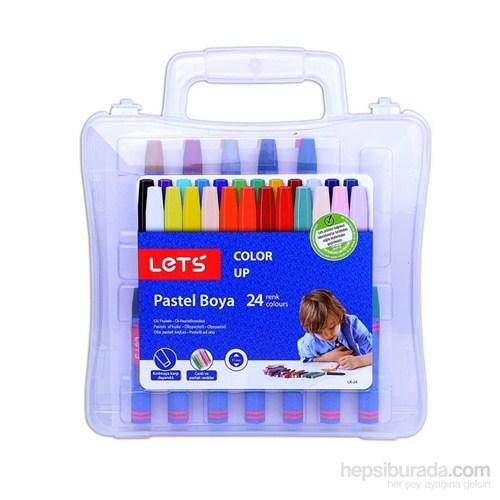 Lets 24 Renk Pastel Boya Plastik Çantalı Lk-24