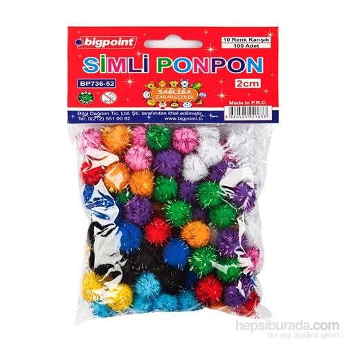 Bigpoint Ponpon Simli 2 Cm 10 Renk 100'Lü