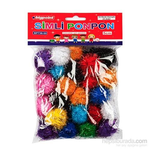 Bigpoint Ponpon Simli 5 Cm 10 Renk 25'Li