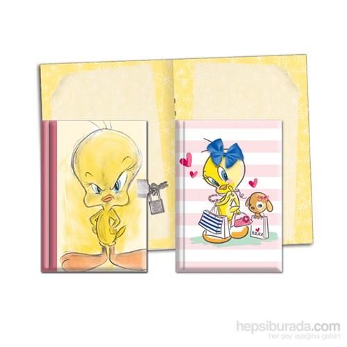 Keskin 310210-23 Looney Tunes 14x20 cm Kilitli Hatıra Defteri