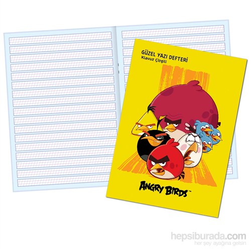 Keskin 280100-46 Angry Birds A5 Güzel Yazı Defteri 40 Yaprak