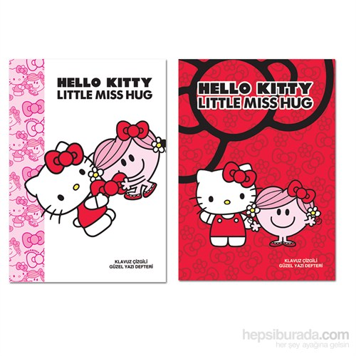 Keskin 280200B Hello Kitty A4 40 Yaprak Güzelyazı Defteri Beyaz Kapak