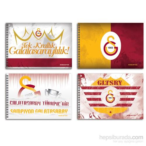 Keskin 300115-63 Galatasaray 17x25 cm Resim Defteri 15 Yaprak