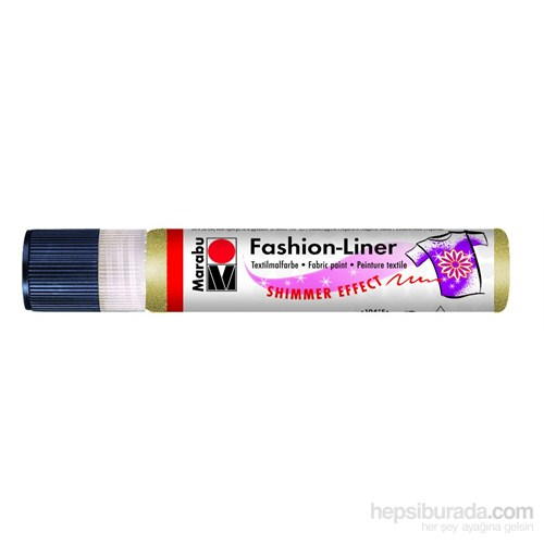 Marabu Fashion Liner Simli - Altın 1804 09 583