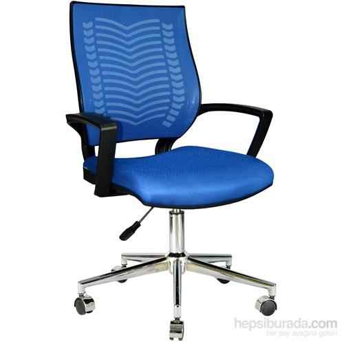 Bürocci Tina Metal Ayaklı Çalışma Koltuğu Mavi 2101G0542
