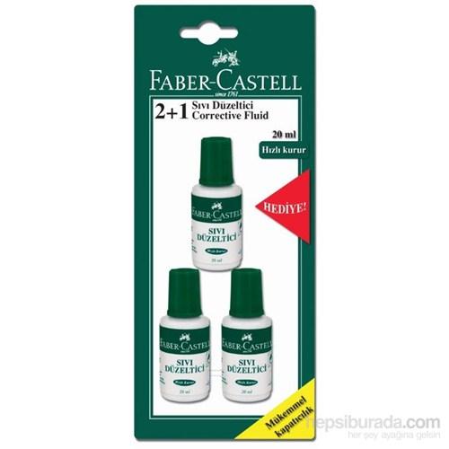 Faber-Castell Sıvı Düzeltici Blisterli 2+1 (Hediye)