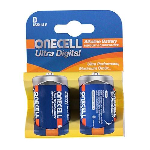 Onecell Ultra Dijital Alkalin D Boy Pil 2`Li
