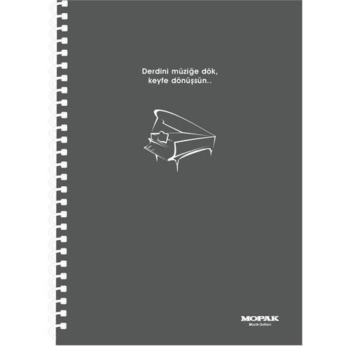 Mopak Müzik Defteri Spiralli A4 40Yp.