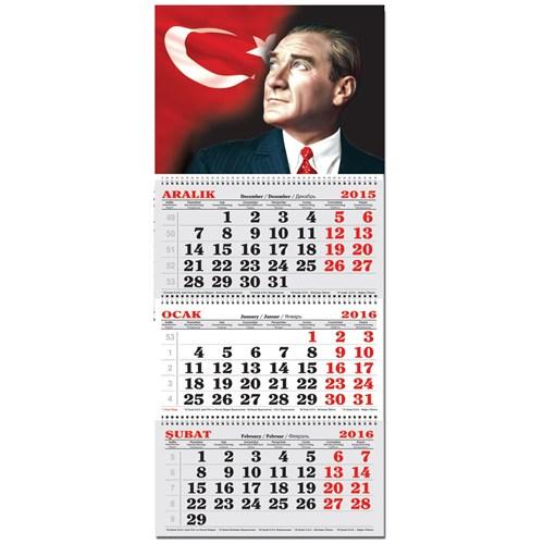 Keskin 3 Aylık Spiralli Denizci Takvim Atatürk