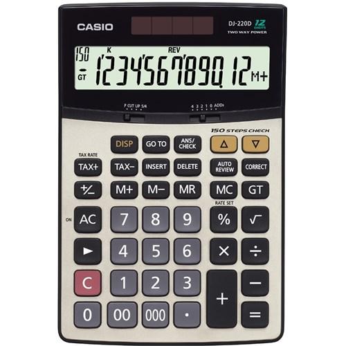 Casio DJ-220D İşlem Kontrollü 12 Hane Hesap Makinesi