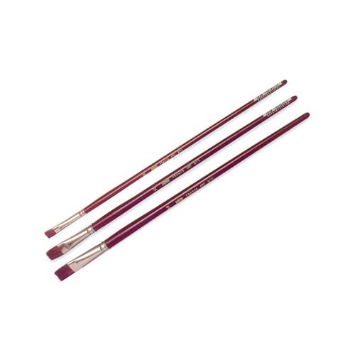 Pebeo 210 Seri Yağlı Boya Fırçası - Yassı Samur Kıl No:0