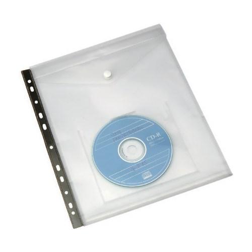 Serve Cd Cepli Çıtçıtlı Zarf,Klasöre Takılabilir Kırmızı Sv-6108