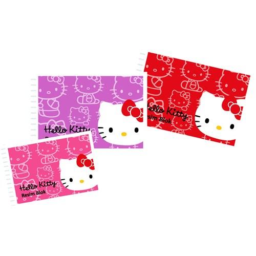 Umur Hello Kitty Spiralli Resim Blok 120 Gr. 35*50