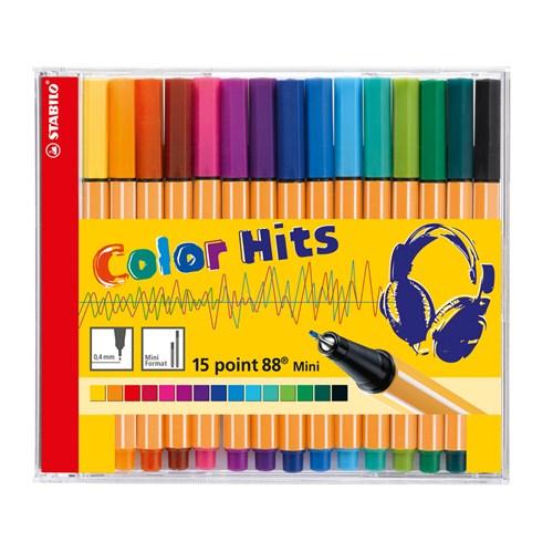 Stabilo Pen 68 Keçeli Kalem Mini Color Hits CD 15 Renk