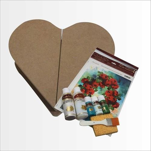 Artebella Sizde Yapabilirsiniz Seti Kalbim Seninle Kalpli Ahşap Kutu (Sy069)