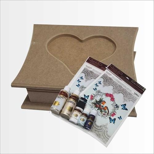 Artebella Sizde Yapabilirsiniz Seti Muhabbet Kalpli Ahşap Kutu (Sy070)