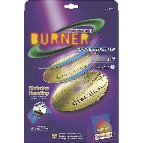 Avery Tam Yüz Cd/dvd Etiketi - Altın Renk Inkjet J8778A-8