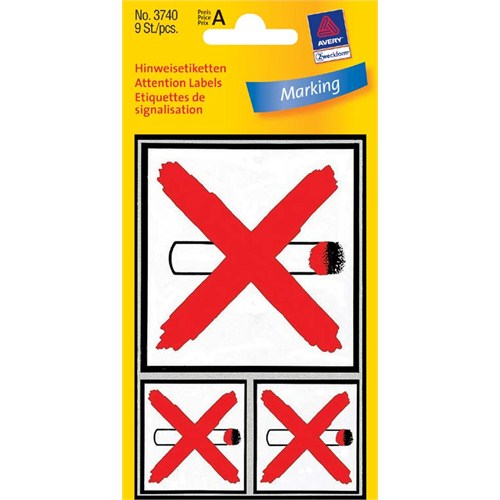 Avery Sigara İçilmez Etiketi 1 Adet