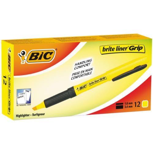 Bic Brite Liner Grip Pembe 12'li Kutu