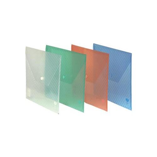 Comix C330 Şeffaf Çıtçıtlı Evrak Zarfı Çizgili Desen 10'lu BYBIC23