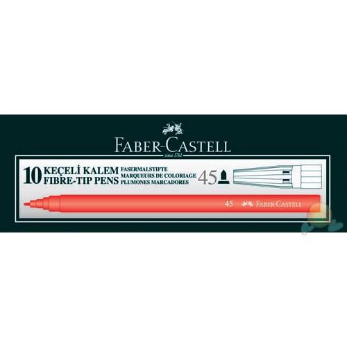 Faber-Castell Keçeli Kalem Kırmızı 10'lu Kutu(5061155003)