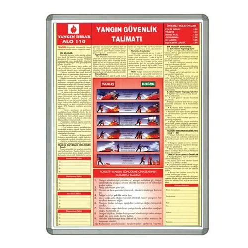 İnter 50x70 Yangın Güvenlik Talimatı Lamine Çerçeveli INT-711-7-L