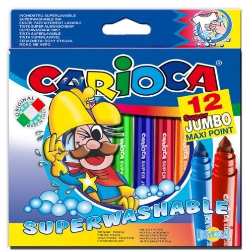 Carioca Süper Jumbo Süper Yıkanabilir Keçeli Boya Kalemi 12'li