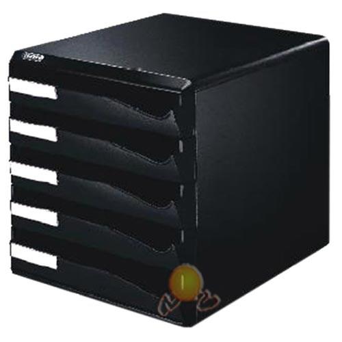 Leitz Çekmeceli Evrak Rafı 5 Çekmeceli Siyah 52930095